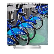 Citibike Rentals Nyc Shower Curtain