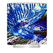 Citric Acid Microcrystals Abstract Color Art Shower Curtain