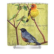 Citron Songbirds 2 Shower Curtain