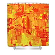 Citrus Circuitry Shower Curtain