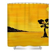 Citrus Sunset Shower Curtain