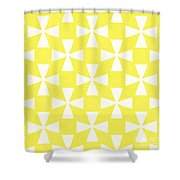 Citrus Twirl Shower Curtain by Linda Woods