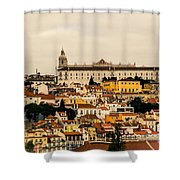 City And Cathedral Lisbon Portugal Shower Curtain