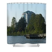City And Country Meet Shower Curtain
