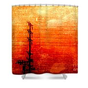City And Its Veins Shower Curtain
