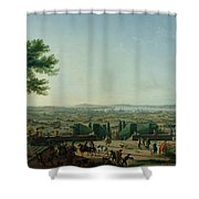City And Port Of Toulon, 1756 Oil On Canvas Shower Curtain