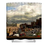 City And Sky Shower Curtain
