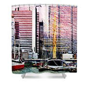 City And Water Shower Curtain