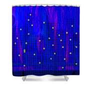 City At Night Shower Curtain
