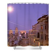 City At Night, San Francisco Shower Curtain