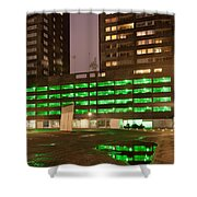 City At Night Urban Abstract Shower Curtain