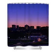 City At The Edge Of Night Shower Curtain
