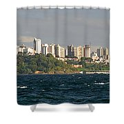 City At The Waterfront, Salvador Shower Curtain