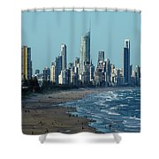 City At The Waterfront, Surfers Shower Curtain