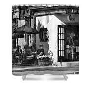 City - Baltimore Md - Having A Cold One Shower Curtain by Mike Savad