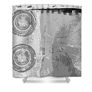 City Block Abstract Shower Curtain