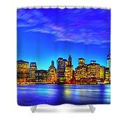 City Blue Shower Curtain