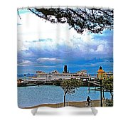 City By The Bay In San Francisco-california  Shower Curtain