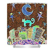 City Cat Shower Curtain