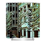 City Center-9 Shower Curtain