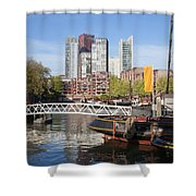 City Centre Of Rotterdam In Netherlands Shower Curtain