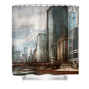 City - Chicago Il -  Building A New City Shower Curtain