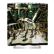 City Cyber Attack  Shower Curtain