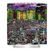 City Dawn Art Cityscape  Shower Curtain