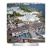 City Dock And Usna In Annapolis Shower Curtain