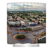City Dock Panorama Shower Curtain
