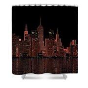 Chicago City Dusk Shower Curtain