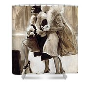 City Flappers Shower Curtain