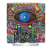 City Garden Hamsa Shower Curtain