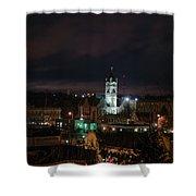 City Hall Centerpiece Shower Curtain