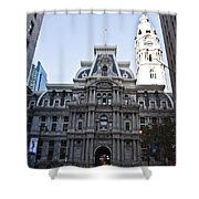 City Hall From Market Street Shower Curtain