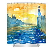 City Hall Stockholm Shower Curtain