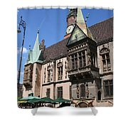 City Hall Wroclaw Shower Curtain