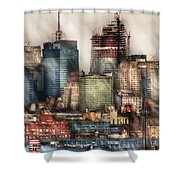 City - Hoboken Nj - New York Skyscrapers Shower Curtain
