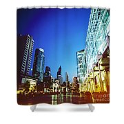City In Twilight Shower Curtain
