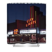 City Lights After Dark Shower Curtain