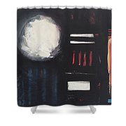 City Lights After Rain Shower Curtain