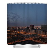 City Lights At Dawn Shower Curtain