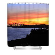 City Lights In The Sunset Shower Curtain