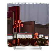 City Lights Marquee Shower Curtain