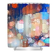 City Lights Urban Abstract Shower Curtain