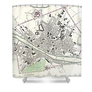 City Map Or Plan Of Florence Or Firenze Shower Curtain