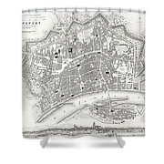 City Map Or Plan Of Frankfort Germany Shower Curtain