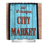 City Market Sign Shower Curtain