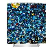 City Mosaic Shower Curtain