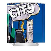 City Motel Las Vegas Shower Curtain
